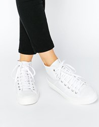 Park Lane Perf Leather High Top Trainers White