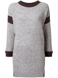 Theatre Products Longsleeved Knit Dress Brown