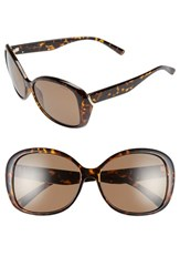 Women's Polaroid Eyewear 59Mm Polarized Sunglasses Havana Brown Polarized
