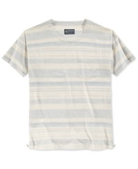 American Rag Men's Zipper Trim Striped T Shirt Only At Macy's Chalky Blue