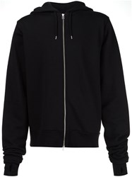 Hood By Air Embroidered Zipped Hoodie Black