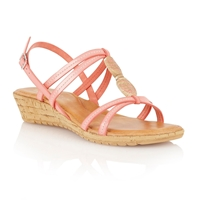 Lotus Leona Open Toe Sandals Coral