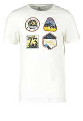 Timberland Slim Fit Print Tshirt Picktet Fence Off White