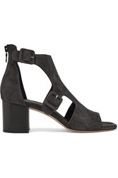 Rag And Bone Matteo Cutout Suede Sandals Charcoal