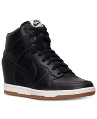 Nike Women's Dunk Sky Hi Casual Sneakers From Finish Line Black Sail Cool Grey Blac