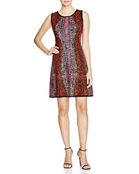 Magaschoni Animal A Line Dress Pink Multi