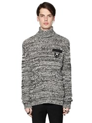 N 21 Heathered Wool Rib Knit Sweater