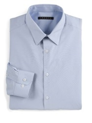 Theory Slim Fit Dover Sword Dress Shirt White Soft Blue Black