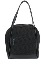 Issey Miyake Pleats Please By Double Handled Pleated Tote Black