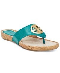 Rialto Calista Thong Flat Sandals Women's Shoes Aqua Blue