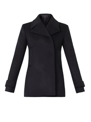 Freda Double Breasted Wool Pea Coat