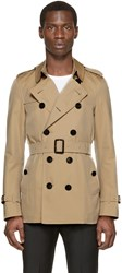 Burberry Tan Short Sandringham Trench