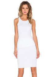 James Perse Ruched Belt Dress White