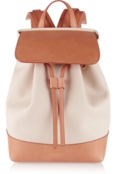 Mansur Gavriel Mini Leather Trimmed Canvas Backpack