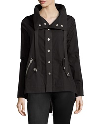 Raison D'etre Zip Back Trenchcoat Black