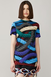 Christopher Kane Hyper Ropes Viscose T Shirt Multi
