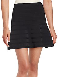 Romeo And Juliet Couture Solid A Line Skirt Black