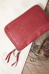Free People Distressed Travel Wallet