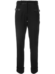 Vera Wang Buckle Strap Trousers Black