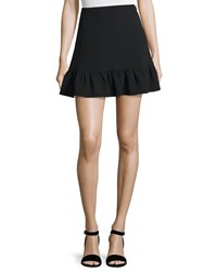 Elizabeth And James Piper Flounce Hem Mini Skirt Black Women's Size 8