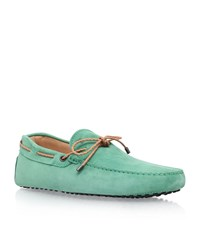 Tod's Scooby Doo Contrast Trim Driving Shoe Male Mint