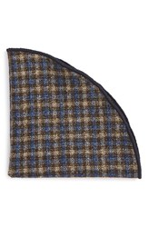 Alexander Olch Men's 'Francisco' Check Wool Pocket Round Yellow Multi