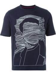 Antonio Marras Front Print T Shirt Blue