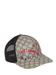 Gucci Snake Coated Gg Canvas Baseball Hat
