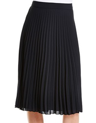 Jessica Simpson Pleated A Line Skirt Black
