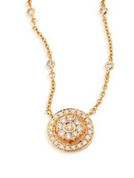 Hueb Diamond Flower And 18K Yellow Gold Pendant Necklace