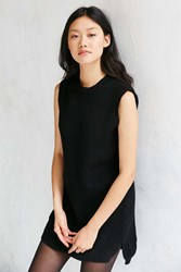 Native Youth Rib Knit Mini Dress Black