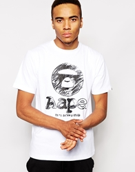 Aape By A Bathing Ape Aape T Shirt With Circle Print White