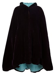 Jean Paul Gaultier Vintage Velvet Hooded Cape