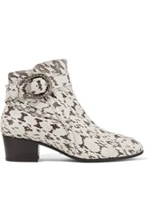 Gucci Elaphe Ankle Boots Snake Print