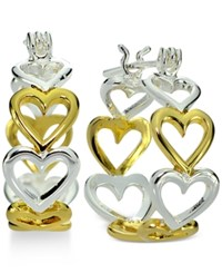 Giani Bernini Two Tone Heart Hoop Earrings In 18K Gold Plated Sterling Silver Only At Macy's Two Tone