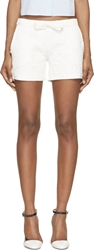 Moncler Ivory Floral Embroidery Shorts