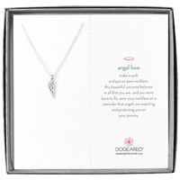 Dogeared Angel Wing Pendant Necklace Silver