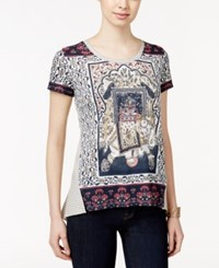 Styleandco. Style And Co. Mixed Print Short Sleeve Top Only At Macy's American Elephant