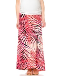 Motherhood Maternity Maternity Skirt Secret Fit Belly R Relaxed Fit Palm Print