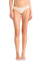 Hanky Panky Signature Lace Petite Low Rise Thong Beige
