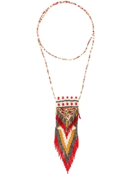 Etro Long Beaded Necklace Red