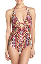 Becca Women's 'Gypset' Halter One Piece Swimsuit