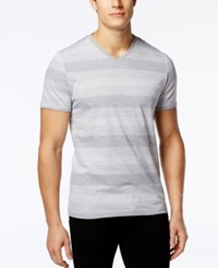 Alfani Red Men's Micah Striped V Neck T Shirt Only At Macy's Shark Combo