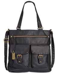 Styleandco. Style Co. Washed Crossbody Tote Only At Macy's Black