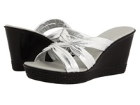 Onex Felicity Silver Leather Women's Wedge Shoes