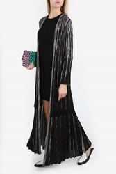 Missoni Lurex Pleated Long Cardigan Black