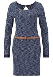 Ragwear Loco Jersey Dress Stone Blue Melange Mottled Grey