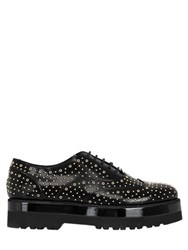 Hogan 50Mm Studded Brushed Leather Shoes