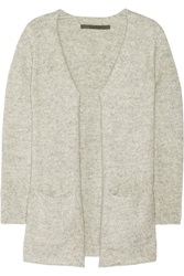 Enza Costa Knitted Cardigan Gray