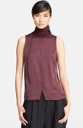Rag And Bone 'Singer' Sleeveless Turtleneck Top Chocolate